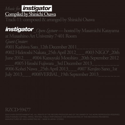 Music for instigator Compiled by Shinichi Osawa